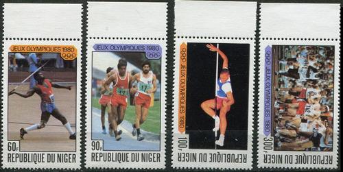 1338 olimpiadas 80 moscou rep nigeria 4 s mint  n h 1980