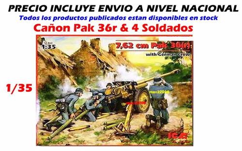 1/35 cañon pak 36 soldados tanque sukhoi mirage auto mig cd