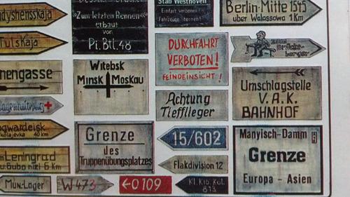 1/35 señales de tránsito alemanas 2ª guerra mundial diorama