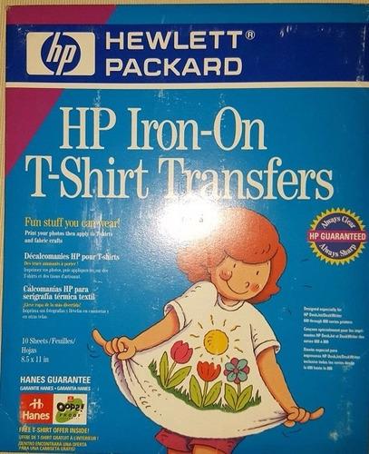 13pk 10 hojas tranf impresion ropa 3 acetatos inkjet hp