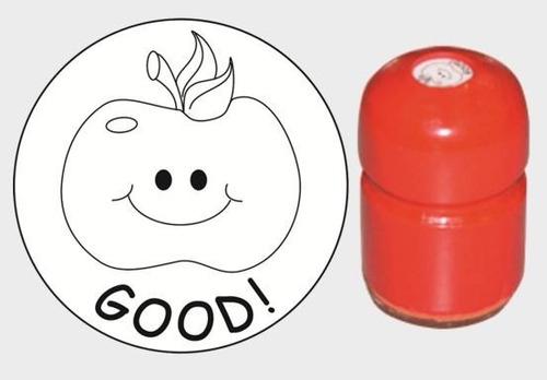 13si sello good manzana motivador inglés mango madera alim