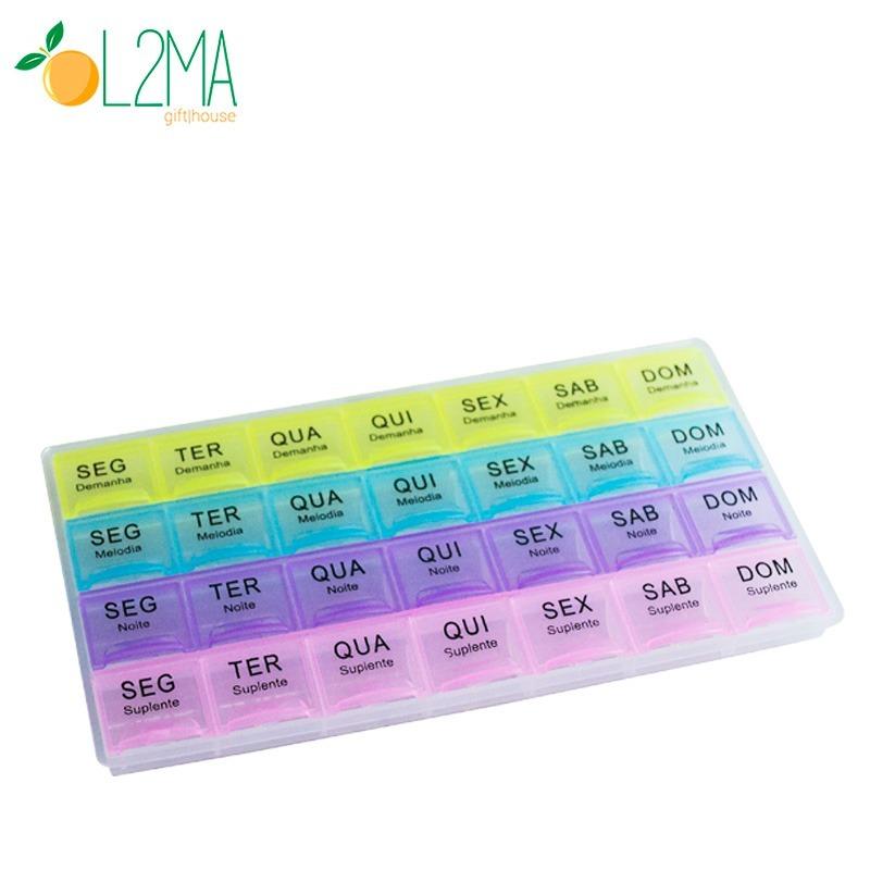 13un Porta Comprimido Medicamento Semanal 4x Dia Remedio R 129 90