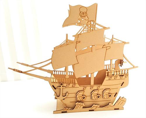 14 barcos pirata mdf centro de mesa bpg