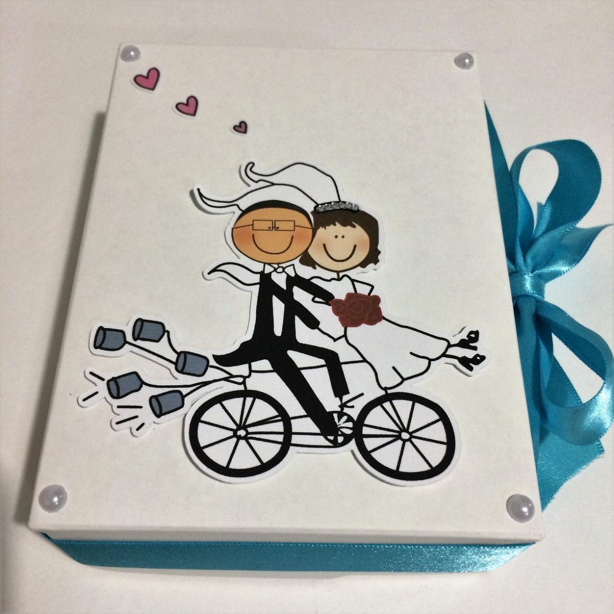 14 Caixas Convite Lembrancinha Casamento Padrinhos Bicicleta R