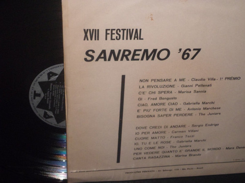 14 canzone di san remo 67 - claudio villa