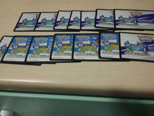 14 cards de código pokemon xy (nacionais)