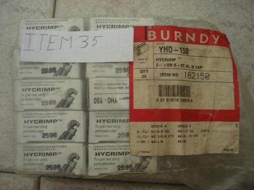 14 conector electrico compresión tipo h burndy cat yho-150