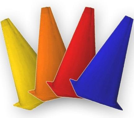 14 cones 20cms borracha fitness circuito treino funcional