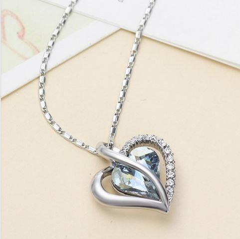 14 febrero collar corazon swarovski dia del amor y amistad