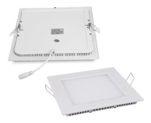 14 lampada led plafon slim 6w quadrado luz fria embutir spot