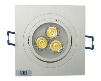 14 lâmpada super led 3w spot quadrado embuti quente frio