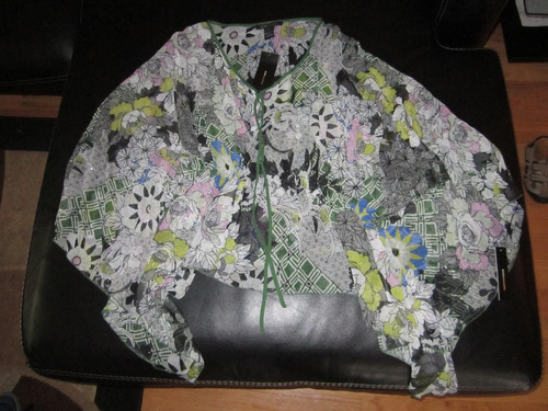 $140 blusa bluzon suelta bcbg brillantes l stock