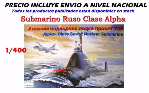 1/400 barco submarino ruso alpha sukhoi mig tanque avion cd