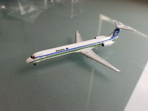 1:400 jet-x alaska airlines md-83 jx079 edição limitada