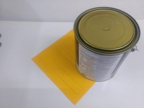 140pçs piso direcional amarelo pvc 2 latas de cola de 2.8kg
