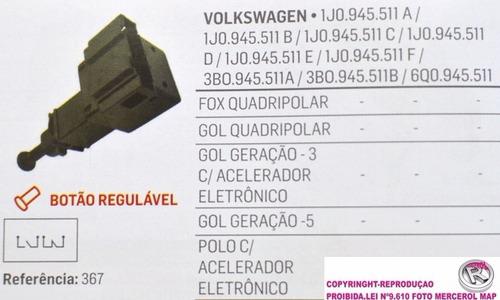 14147 interruptor luz freio gol fox polo 4 pinos