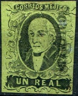1416 clasico dto tampico 1 real mint l h 1861