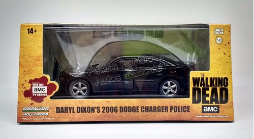 1:43 dodge charger 2006 police walking dead greenlight