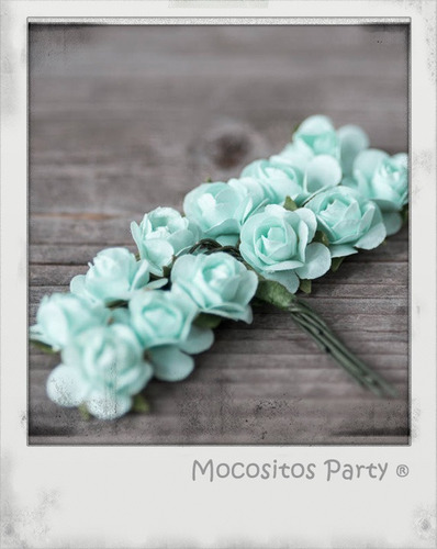 144 flores de papel mini bouquet decoración boda invitacion