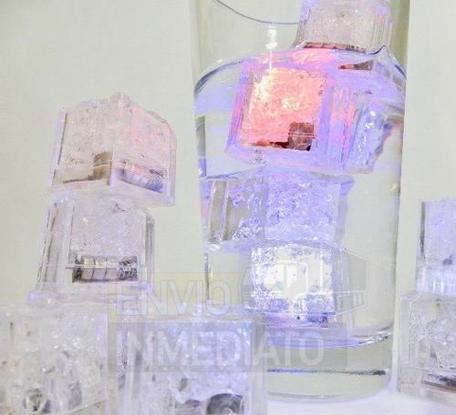 144 pzas. led rgb colores tipo hielo sumergible