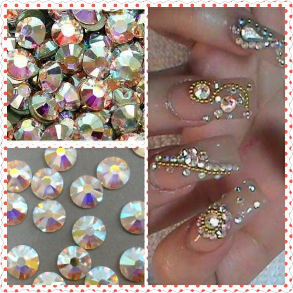 1440 piedras 100 cristal swarovski decoracion u as for Cosas de decoracion