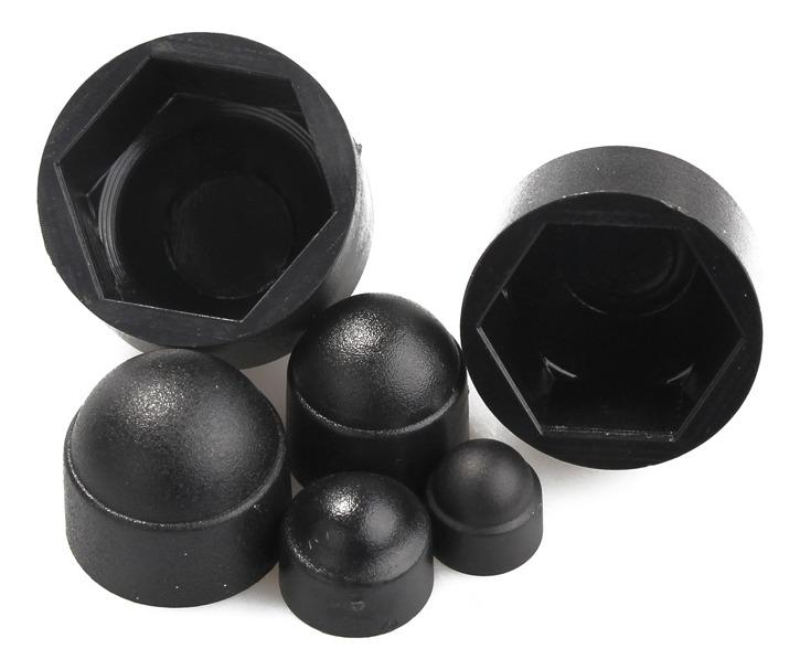 145 unids Negro Surtido Cubiertas de Tuercas y Tornillos M-4 M5 M6 M8 M10 M12 M12 Cubiertas Kit de Protecci/ón de C/úpula Bellota Decorativa