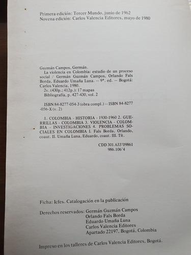 146- la violencia en colombia - tomo 2 - 9 edicion