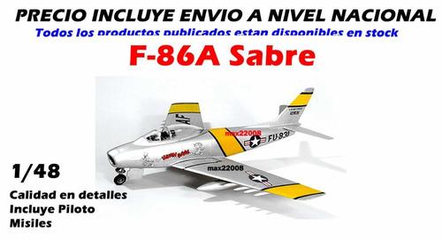 1/48 avion f 86 sabre tanque mirage barco auto mig fap 20
