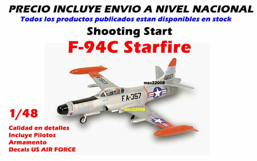 1/48 avion shooting f 94c starfire sukhoi mig tanque barco