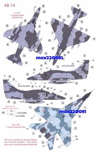 1/48 decal mig 29 tanque mirage barco peru sukhoi ecuador