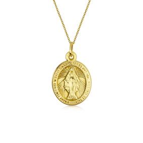 ef06448a7aa3 14k Amarillo Real Oro Virgen María Religioso Metal Colgante