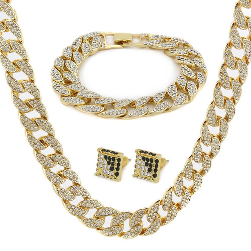 14k gold finish 15mm 30  totalmente cz iced out hip hop m
