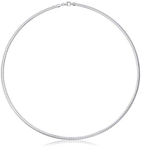 14k oro blanco italiano 2.8mm pulsera de cadena flexible de