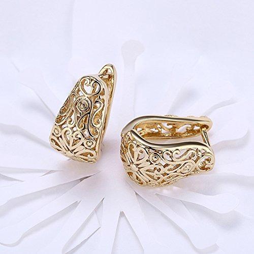 Concha shell pendientes arete 925e real plata dorado ohrhänger Gold os 7