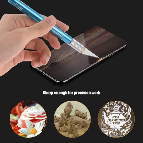 14pcs / set arte pluma cuchillo precisión cortador diy arte
