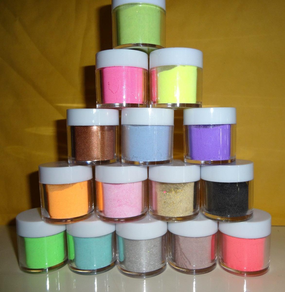 15 acrilicos de color para decoracion de u as gel - Cristales de colores para mesas ...