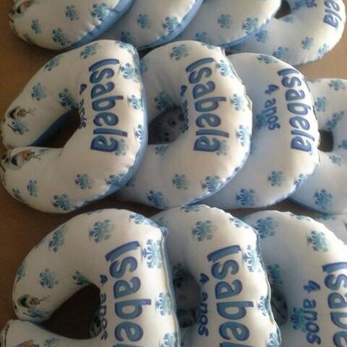 15 almofada pescoço personalizada lembrancinha frozen fever