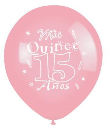 15 a os globos latex 12 pulgadas helio centro de mesa bs for Globos para quince anos