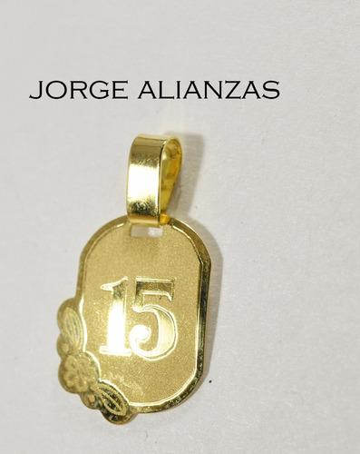 15 años medalla y cadena oro 18kts  (53)