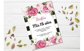 15 Años Tarjeta Imprimible Invitacion Casamiento Editable