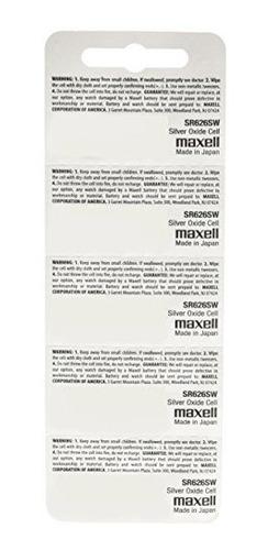 15 baterias de reloj de oxido de plata maxell sr626sw 377 nu
