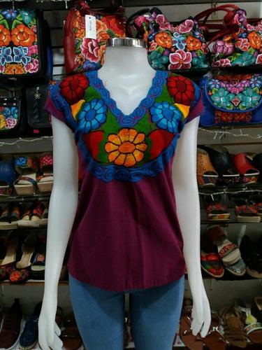 15 blusas bordada floreada chiapaneca  de zinacantan mayoreo