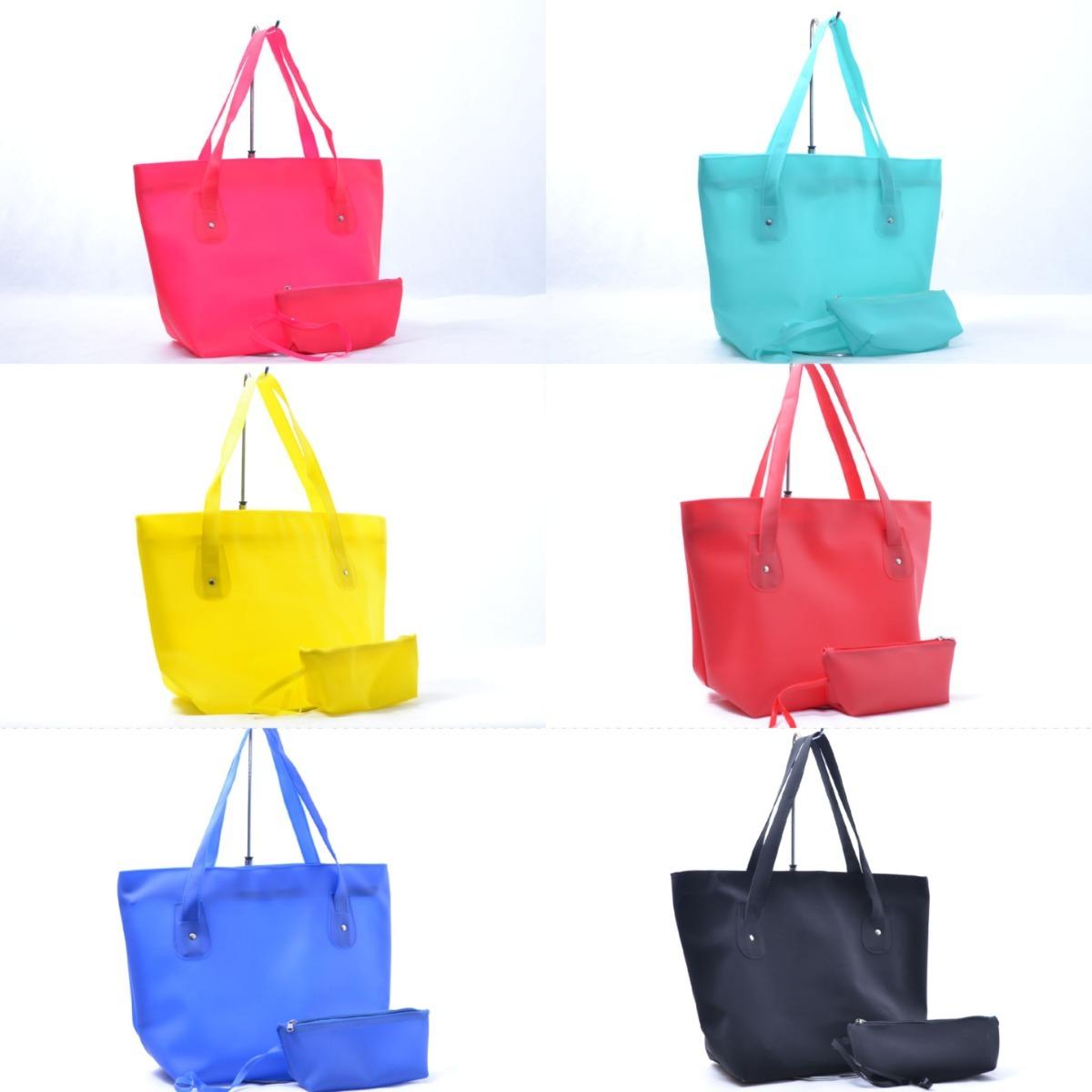 15 bolsa praia silicone verão impermeável + bolsinha cores 1. Carregando  zoom. 59b3a378dad