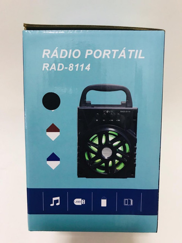 15 caixa som rádio inova rad-8114 6w bt/usb/tf/fm atacado