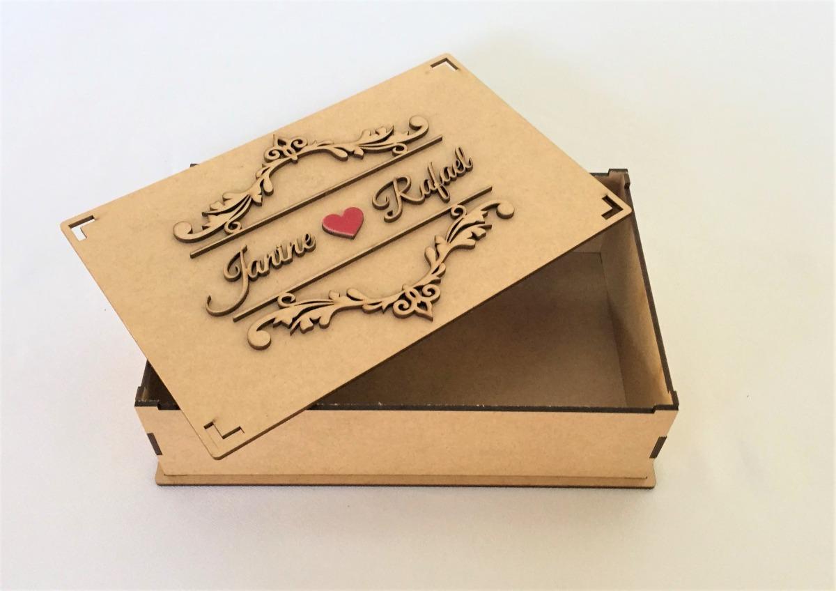 15 Caixas Mdf Convite De Casamento Padrinhos Arabesco 9cm R 165