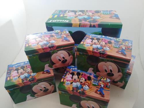 15 cajas de madera  para sorpresitas premium
