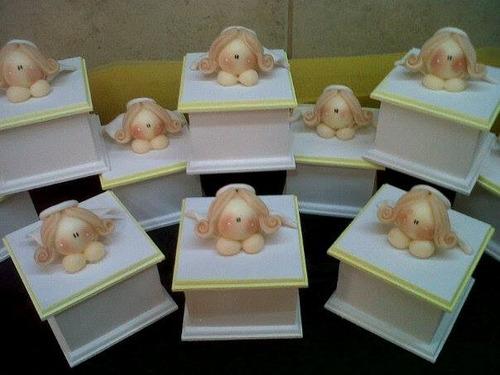 15 cajitas bautismo comunion nacimiento + centro   600