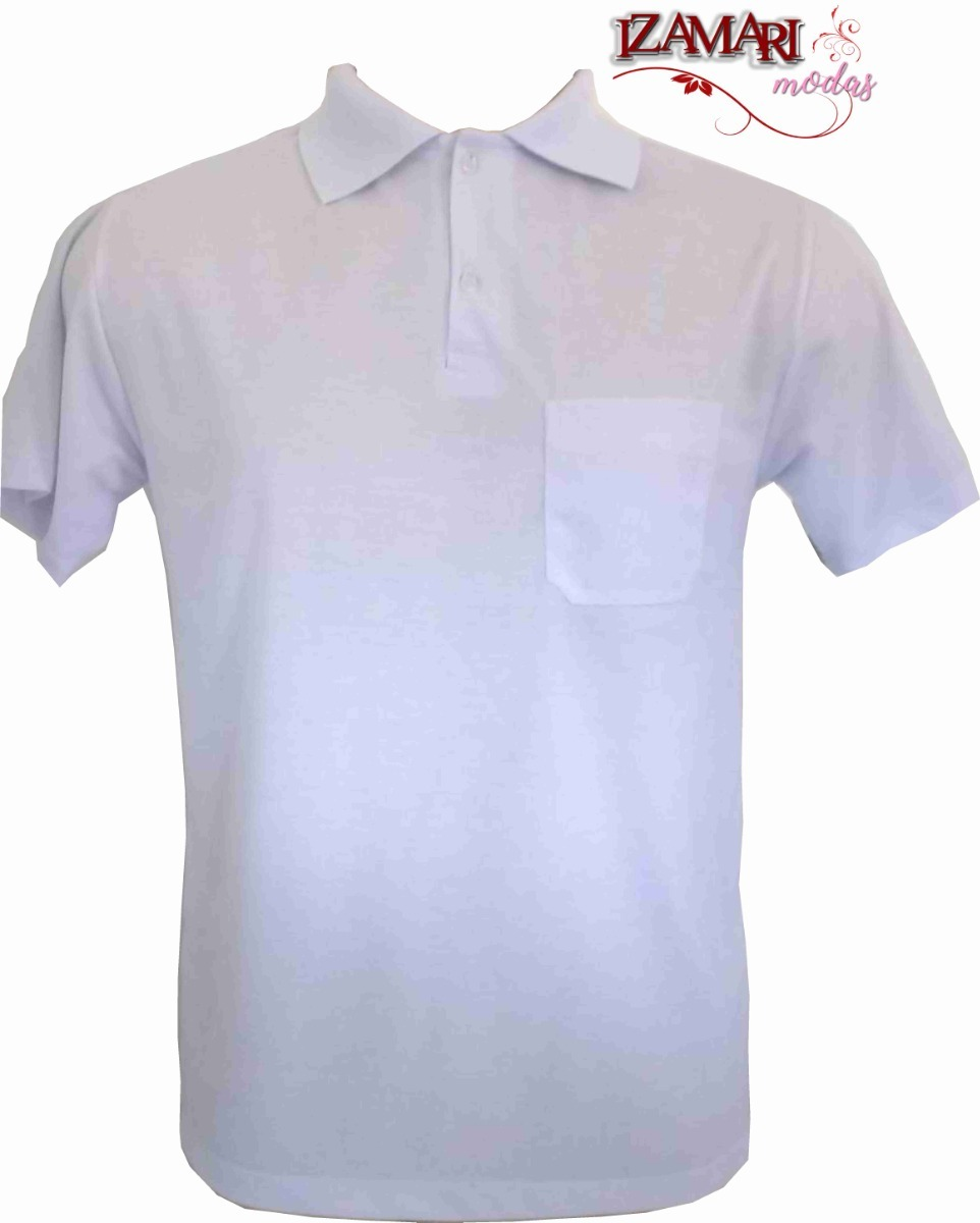 2b8b1fcb44 15 camiseta pólo branca sublimação 100% poliéster. Carregando zoom.