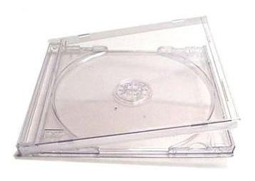15 capa caixa acrilica cd box tradicional - transparente