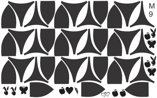 15 cartelas de biquinis adesivos
